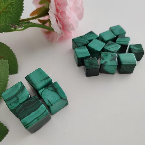 Cube en Malachite
