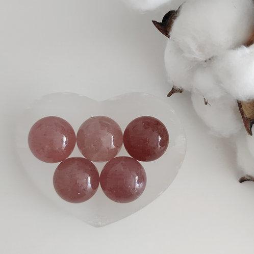Bille de quartz fraise