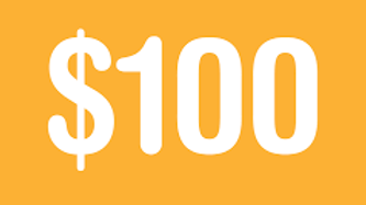 Donation of $100