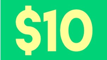 Donation of $10