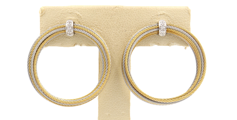Alor Gold/Silver Cable Earrings Ref. 03-34-S900-11