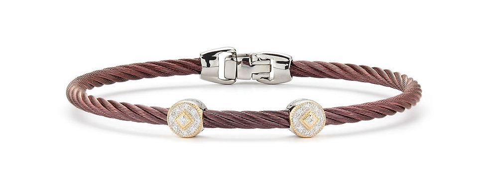 Alor Burgundy Cable Essential Stackable Bracelet Ref. 04-20-S922-11