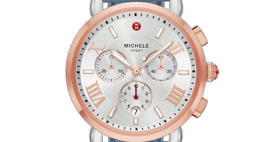 MICHELE SPORTY SPORT SAIL TWO-TONE PINK GOLD WATCH Ref. MWW01P000004