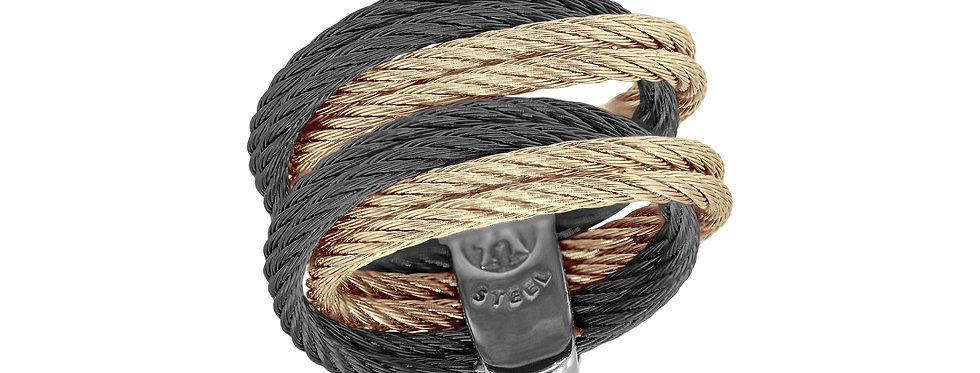 Carnation & Black Cable Entwine Ring 02-51-1001-00