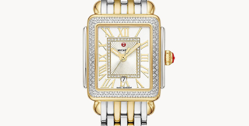 Michele Deco Madison Mid Two-Tone Diamond Watch MWW06G000002