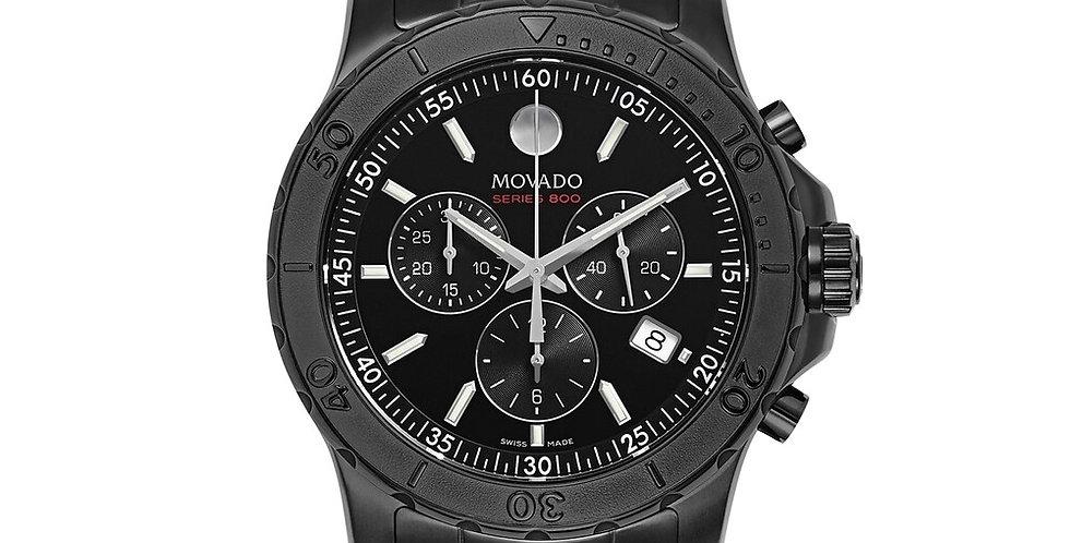 Movado Series 800 Chronograph Black PVD Men's Watch 2600119