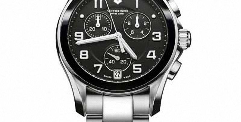Victorinox Swiss Army Chrono Classic Black Ceramic Watch 241544