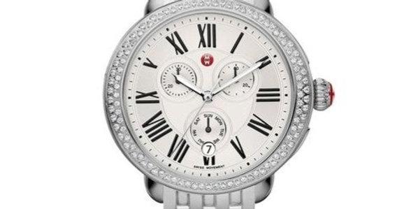 Michele Serein Diamond Chronograph Stainless Steel Watch MWW21A000001