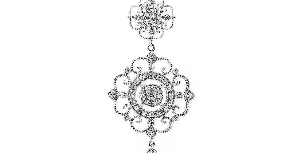 Classic White Gold Diamond Antique Necklace