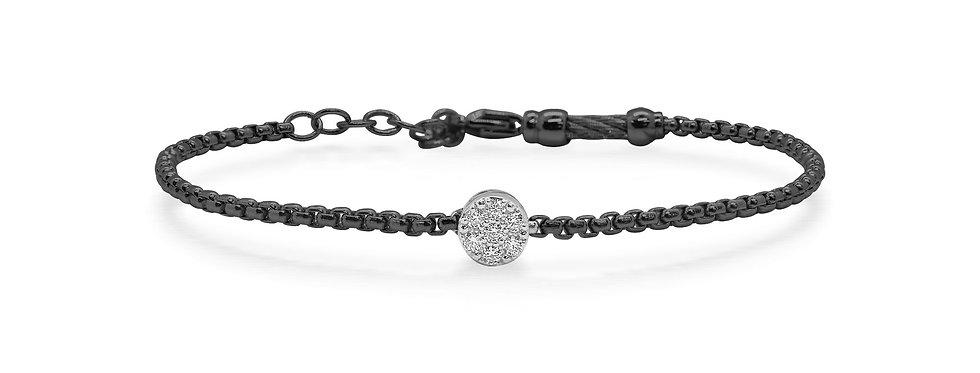 Black Chain Expressions Bracelet