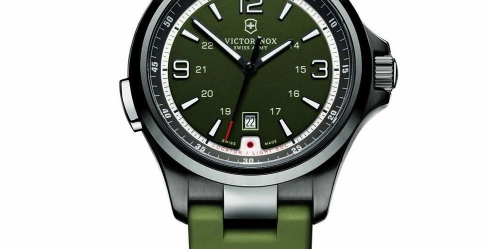 Victorinox Swiss Army Night Vision Green Dial Strap Watch 241595