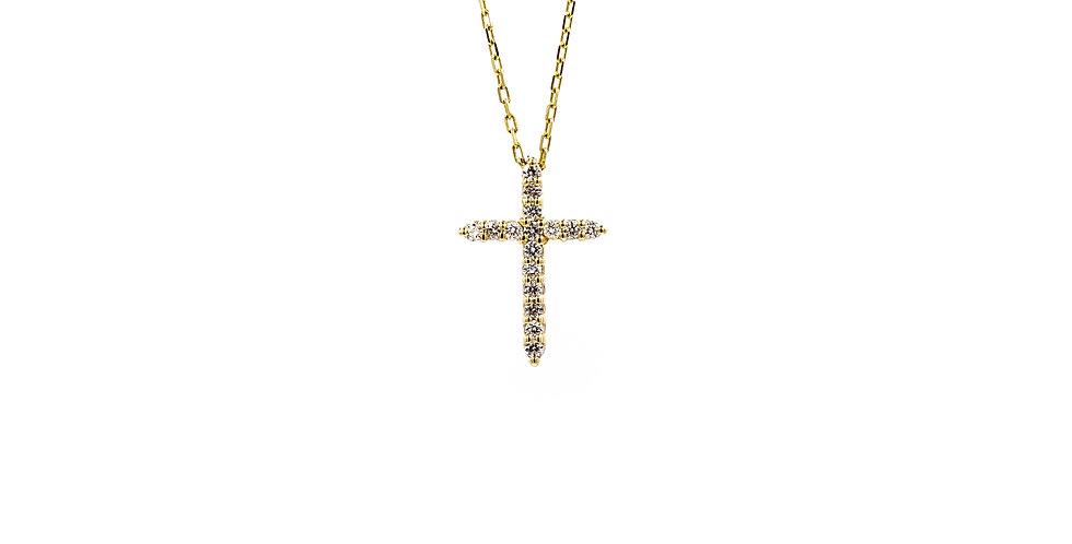 Classic Yellow Gold Diamond Cross