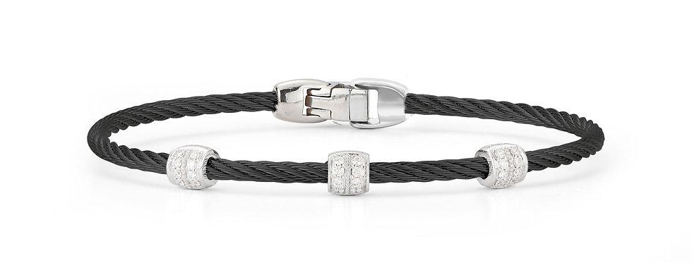 Black Cable Triple Station Stackable Bracelet Ref. 04-52-0937-11