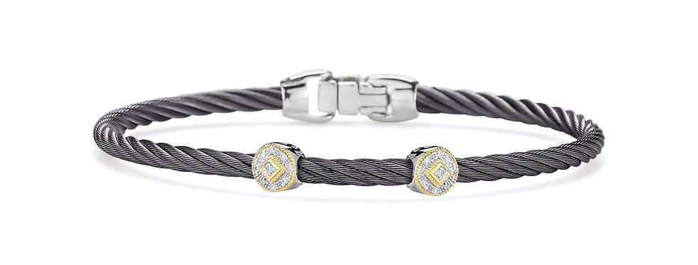 Alor Steel Grey Cable Essential Stackable Bracelet Ref. 04-23-S922-11