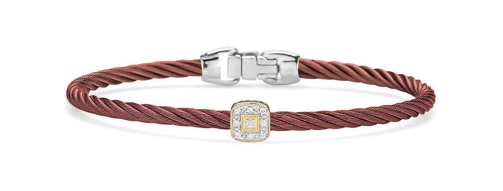 Alor Burgundy Cable Essential Stackable Bracelet Ref. 04-21-S914-11