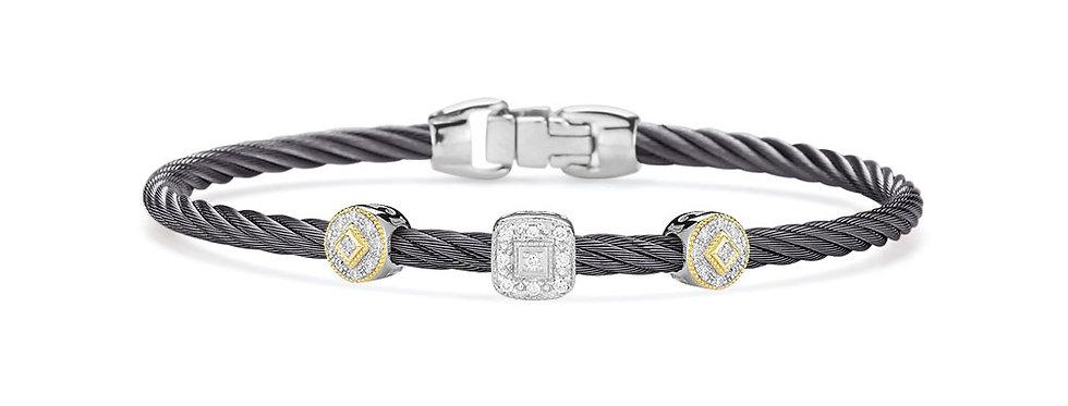 Alor Steel Grey Cable Essential Stackable Bracelet Ref. 04-22-S921-11