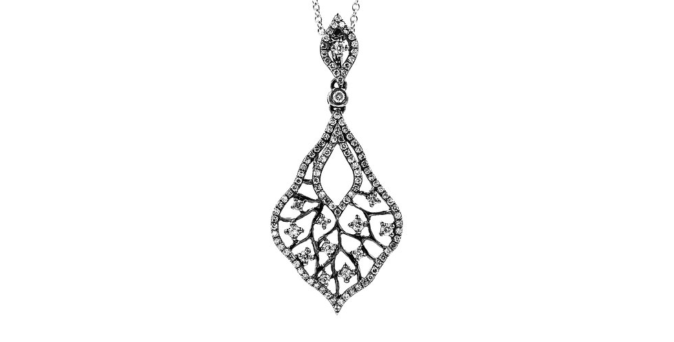 Classic White Gold Antique Diamond Necklace