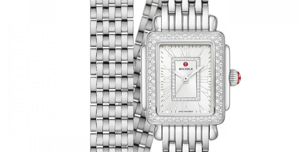 Michele Deco Madison Mini Stainless Diamond Watch MWW06D000162