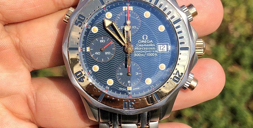 OMEGA Seamaster Professional 300M 18k Rose Gold Titanium Men's Watch 2296.80.00