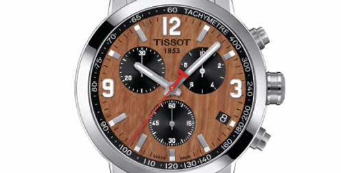 TISSOT PRC 200 NBA SPECIAL EDITION HARDWOOD DIAL WATCH T055.417.11.297.01