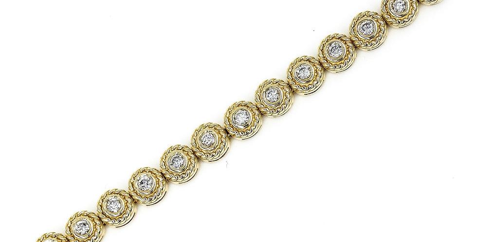 Classic Yellow Gold Diamond Tennis Bracelet