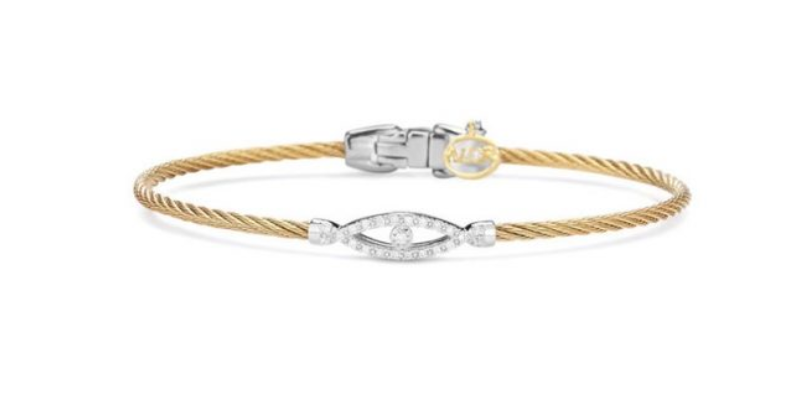 Gold Cable Evil Eye Bracelet Ref. 04-32-S806