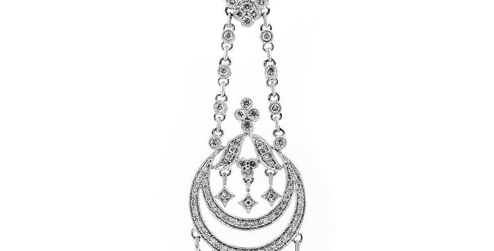 White Gold Chandler114 Stones Diamond Necklace