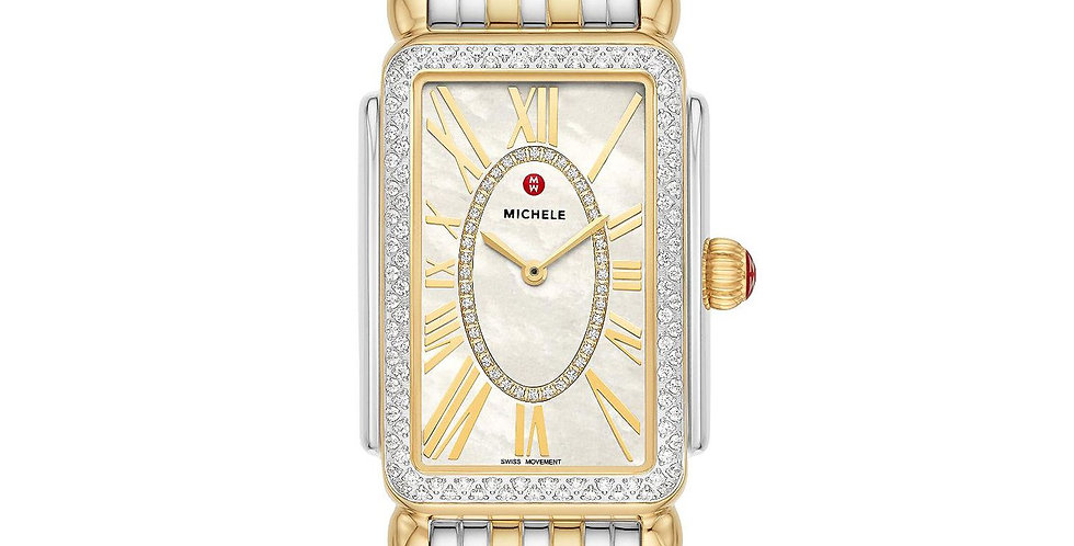 Michele Deco Park Two-Tone Diamond Watch MWW06E000143