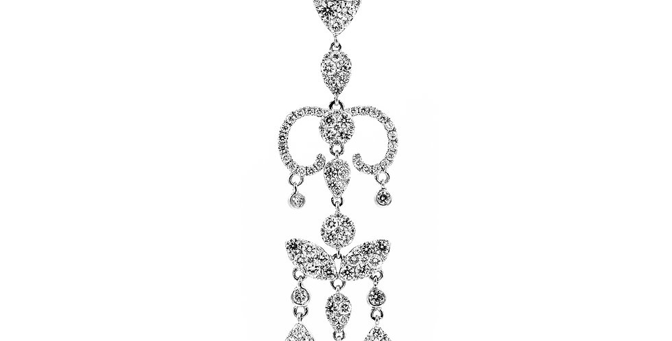 White Gold Chandlier With Full Cuts Diamond Clusters