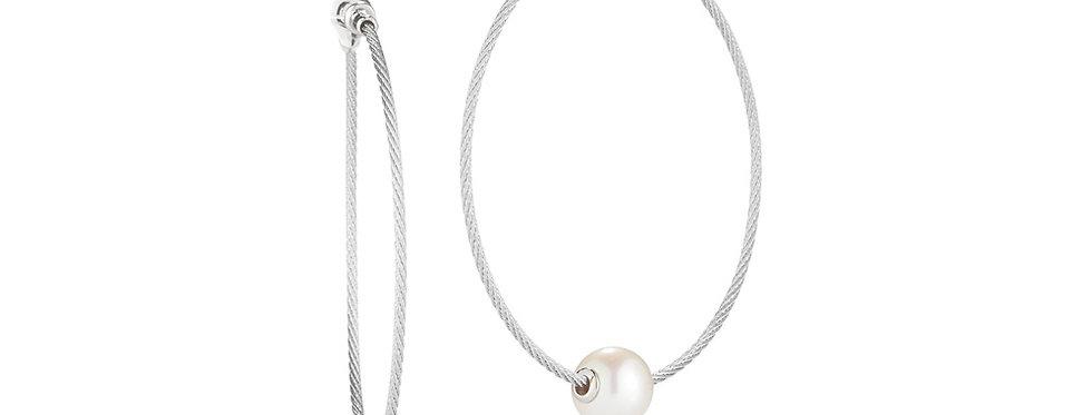 Grey Cable Hoop Earrings Ref. 03-32-P102-00