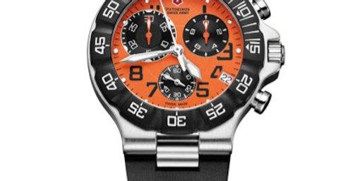 Victorinox Swiss Army Summit XLT Chrono Orange Dial Rubber Strap Watch 241340