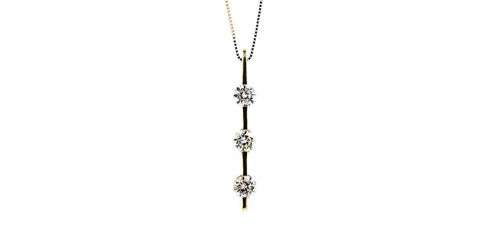 Classic Yellow Gold Diamond Necklace