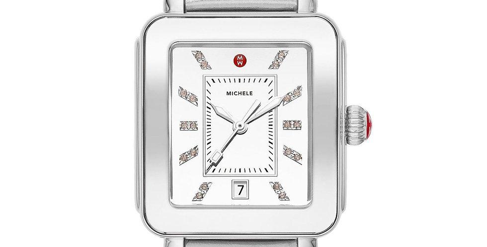 Michele Deco Sport High Shine Silver Mirror Dial Silver Watch MWW06K000021