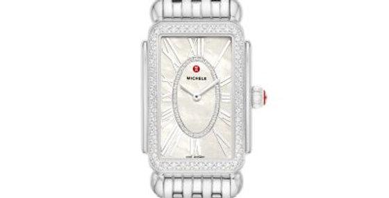 Michele Deco Park Stainless Steel Diamond Watch MWW06E000142