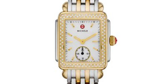 Michele Deco Mid Two Tone Diamond, Two Tone Bracelet Watch MWW06V000023