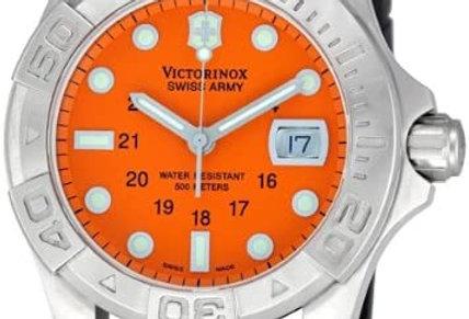 Victorinox Swiss Army Dive Master 500 Orange Dial Rubber Strap Watch 241041