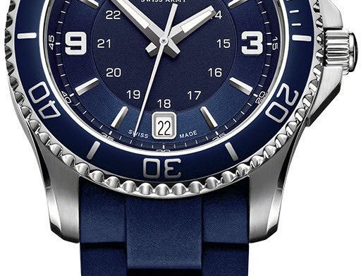 Victorinox Swiss Army Maverick GS Small Blue Rubber Strap Watch 241610