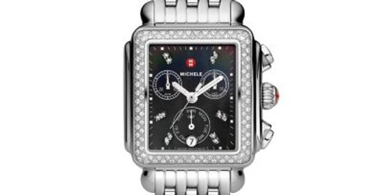 Michele Deco Diamond, Black Diamond Dial Watch MWW06P000171