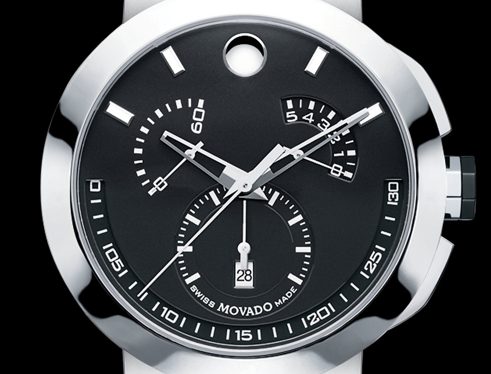 Movado Verto Chronograph Black PVD Stainless Steel 0606546