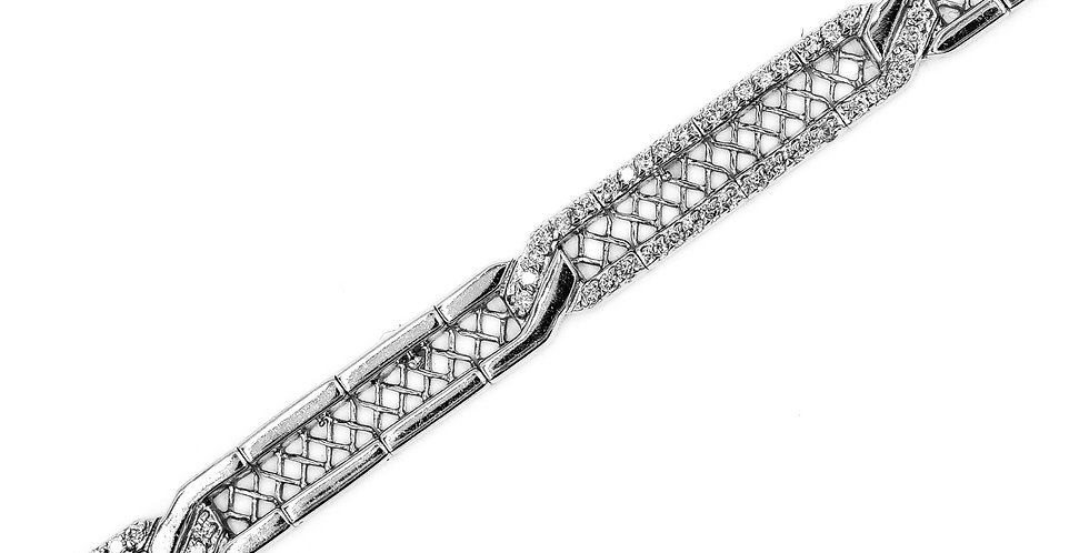 Classic White Gold Diamond Tennis Bracelet
