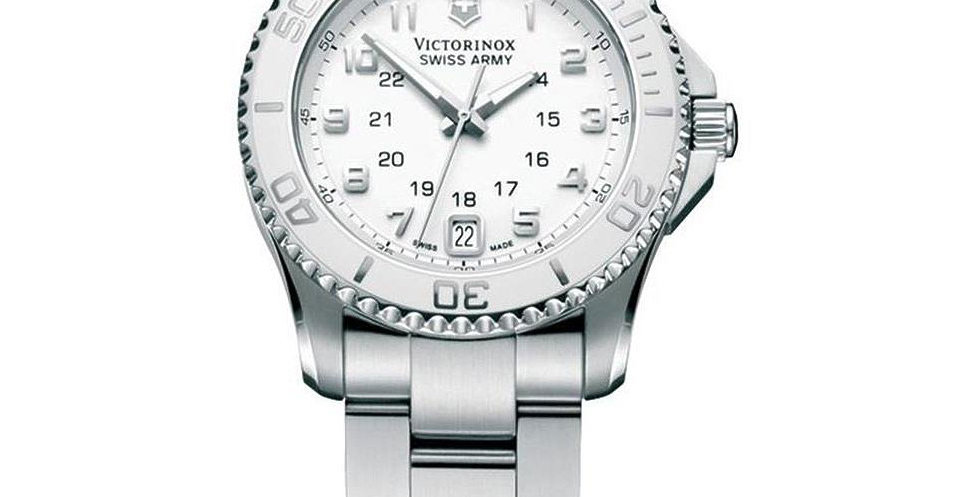 Victorinox Swiss Army Maverick GS Small White Dial Bezel Watch 249051