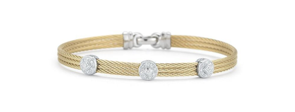 Yellow Cable Classic Stackable Bracelet Ref. 04-37-S832-11