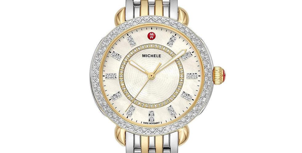 Michele Sidney Classic Two-Tone Diamond Watch MWW30B000002