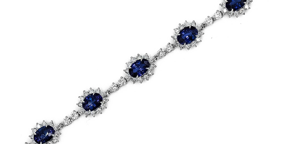 Classic White Sapphire/Diamond Tennis Bracelet