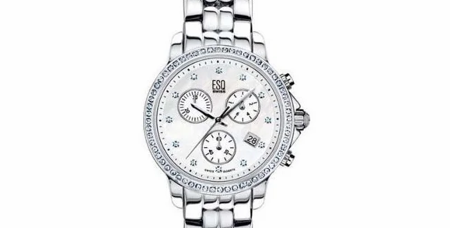 ESQ Luxe Mother Of Pearl Diamond Chronograph Ladies Watch Ref. 07101252