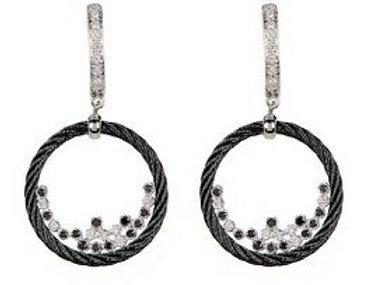 Alor White Gold & Black Earrings Ref. 03-52-0192-18