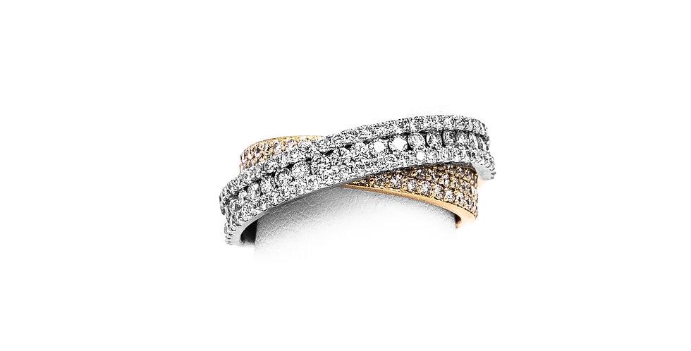 Rose Gold White Micro Pave Diamond Ring