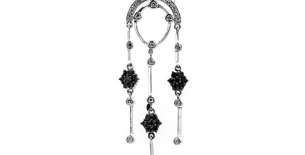 Classic White Gold Diamond Dangle Necklace