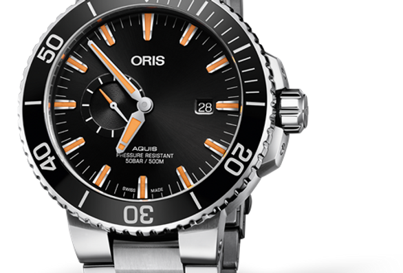 ORIS AQUIS SMALL SECOND, DATE Ref. 01 743 7733 4159-07 8 24 05PEB