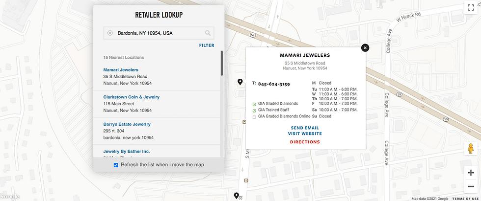 GIA Retailer Lookup Mamari Jewelers